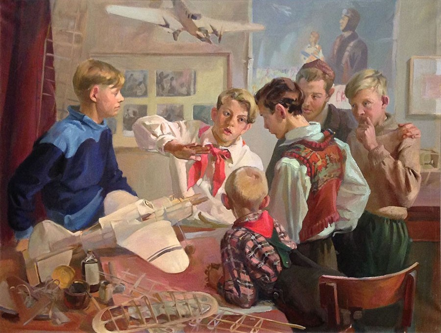 Вийдалепп Хельве Августовна (1921-1979) «Юные авиамоделисты», 1951 г.
