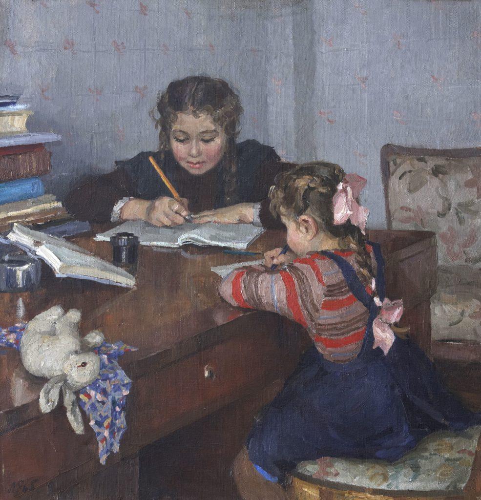 Рыбченкова Лора Борисовна (1928-?) «Сестрёнки» 1952-53