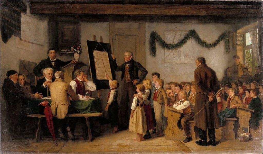 Альберт Самуэль Анкер. Школьный экзамен.1862